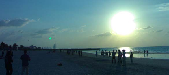 Dubai Weather - Sunset in Jumeirah Beach